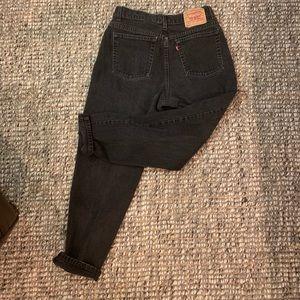 Vintage Levi black jeans